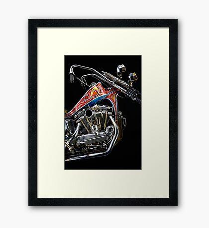 Evel Knievel Harley XLCH Chopper Engine Framed Print