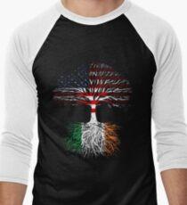 American Grown, Irish Roots Men's Baseball ¾ T-Shirt