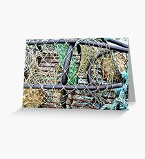Old Nets and Lobster Pots, Mullaghmore, Sligo, Donegal, Ireland Greeting Card