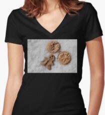Xmass cookies Women's Fitted V-Neck T-Shirt