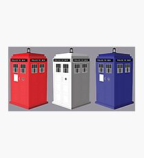 Whovian red, white and blue Photographic Print