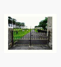 The Gates of Classiebawn Castle, Mullaghmore, Sligo, Donegal, Ireland Art Print