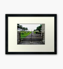 The Gates of Classiebawn Castle, Mullaghmore, Sligo, Donegal, Ireland Framed Print