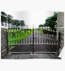 The Gates of Classiebawn Castle, Mullaghmore, Sligo, Donegal, Ireland Poster