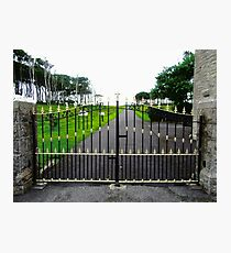 The Gates of Classiebawn Castle, Mullaghmore, Sligo, Donegal, Ireland Photographic Print