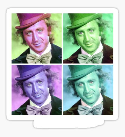 Willy Wonka Warhol Sticker