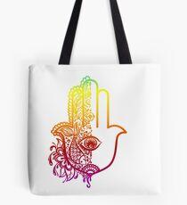 Colorful Hamsa Hand Tote Bag