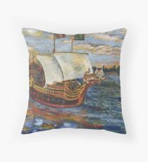 Ship Of Fools  Throw Pillow