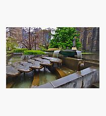 Cascade at St Patrick's Cathedral Photographic Print