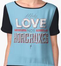 Make Love Not Horcruxes Women's Chiffon Top