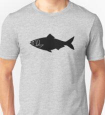 American Shad Fish Silhouette (Black) Unisex T-Shirt