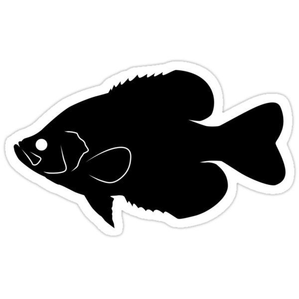 Quot Crappie Fish Silhouette Black Quot Stickers By