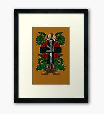 Battle Cross for Shirts Framed Print