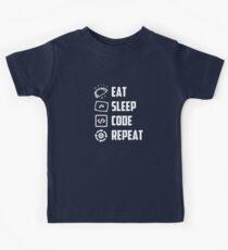 Eat Sleep Code Repeat Kids Tee