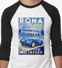 """ROMA VINTAGE GRAND PRIX"" Auto Racing Print T-Shirt"