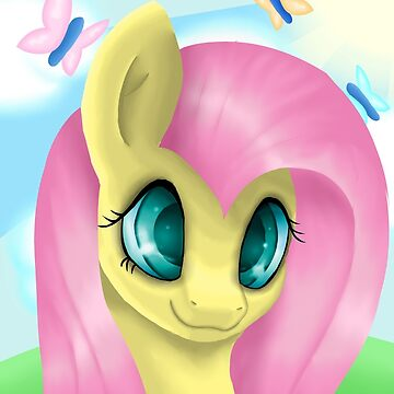 Fluttershy Portrait by LegendDestroye