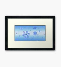Fractal Snowflake Snowstorm Framed Print