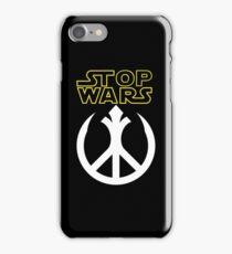 STOP WARS: rebel peace insignia  iPhone Case/Skin
