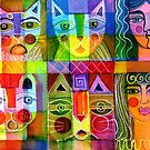 Cats and two ladies by Karin Zeller