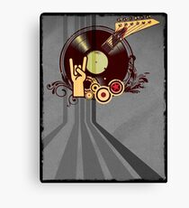 Rock Music Vinyl Record Collage 1 Canvas Print