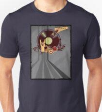 Rock Music Vinyl Record Collage 1 Unisex T-Shirt