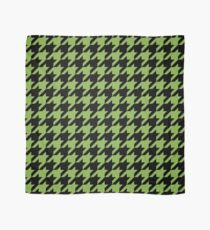 Houndstooth design in greenery and black Scarf
