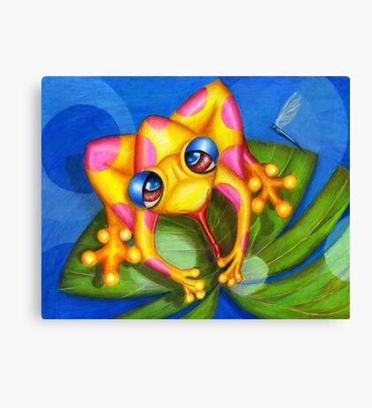 Froggy Fantastic Canvas Print