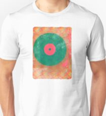 Vinyl Record Grunge Unisex T-Shirt