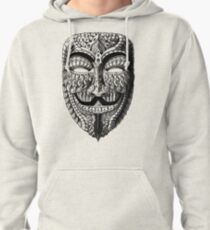 Ornate Anonymous Mask Pullover Hoodie