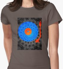 Vinyl Record Stars Womens Fitted T-Shirt