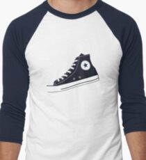 All Star Inspired Hi Top Retro Sneaker in Navy Blue T-Shirt