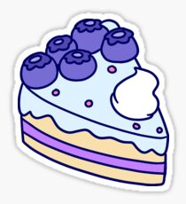 Blueberry Cake Slice Sticker