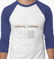 Empty coffee cup things Men's Baseball ¾ T-Shirt