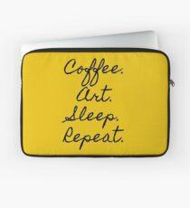 cofee, Art, Sleep, Repeat Laptop Sleeve