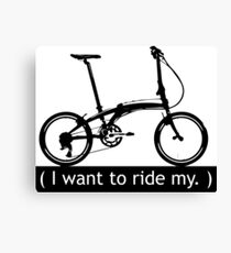 I want to ride my. Canvas Print