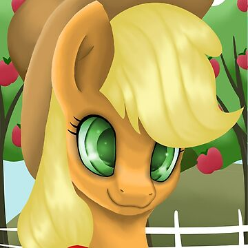 Applejack Portrait by LegendDestroye