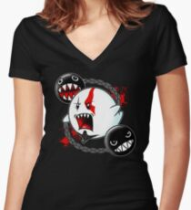 Ghost of Sparta Women's Fitted V-Neck T-Shirt