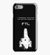 FTL black iPhone Case/Skin