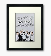 [SIGNATURE] BTS Kings Edit Framed Print