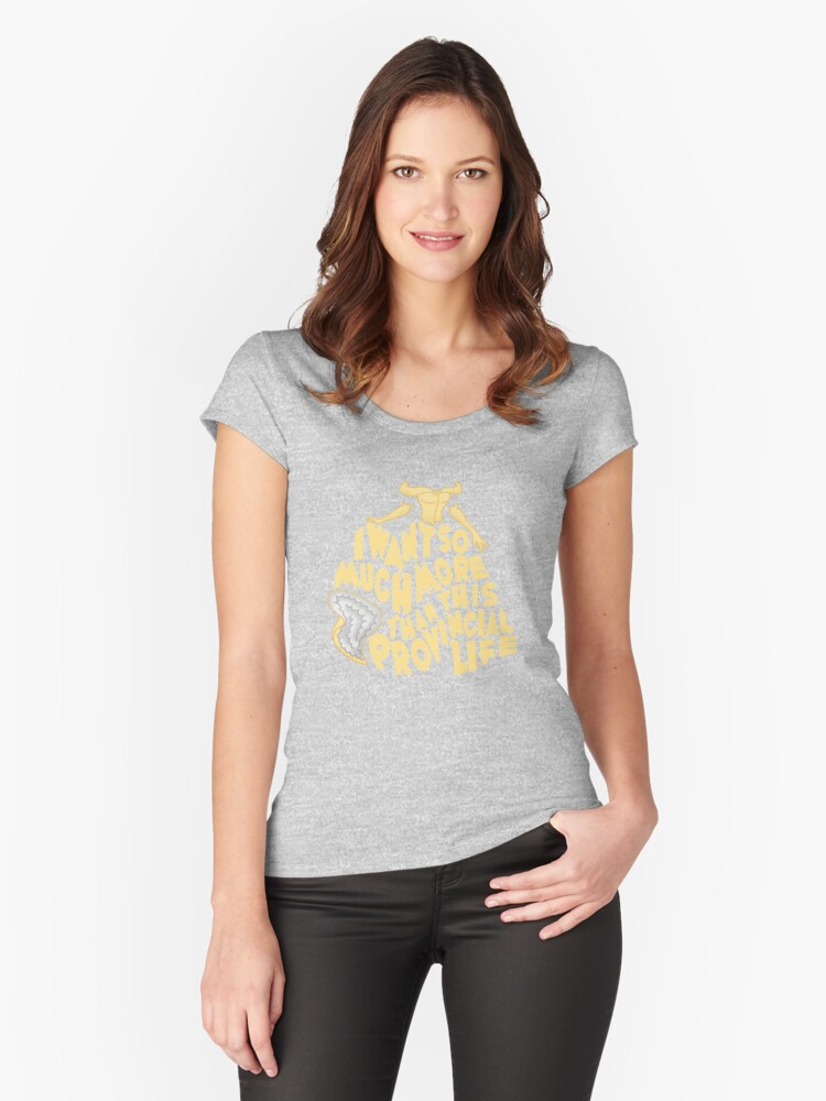 Provincial Life Women's Fitted Scoop T-Shirt Front