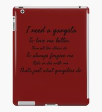 Gangsta iPad Case/Skin