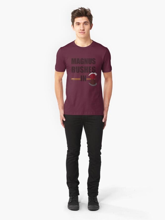 Alternate view of [TAZ] MAGNUS RUSHES IN! Slim Fit T-Shirt