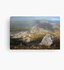 In The Clouds On Errigal Canvas Print