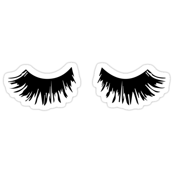 Quot Eyelash Print Quot Stickers By Sparksgraphics Redbubble