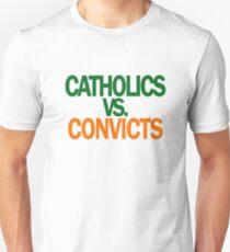 Catholics VS Convicts Tshirt Football ND v Miami Unisex T-Shirt