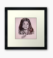 Ink Pen Portrait of Della Reese  Framed Print