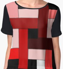 RED Lines Chiffon Top