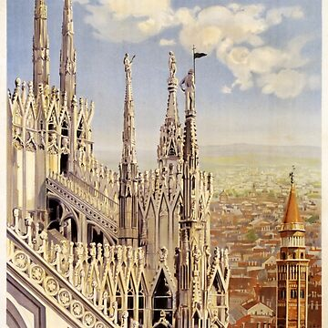Vintage 1920 Milan Italy Travel Poster by cartoon