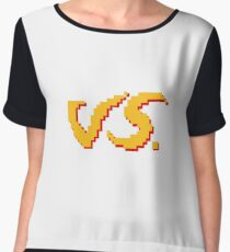 VS. Pixel Art - Original Design Women's Chiffon Top