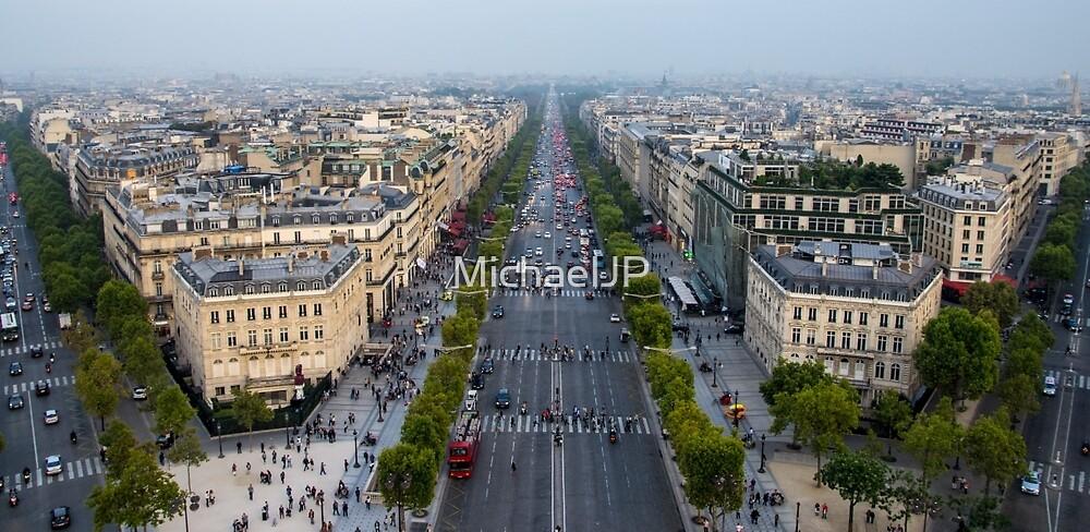 Paris Cityscape at Dusk by MichaelJP